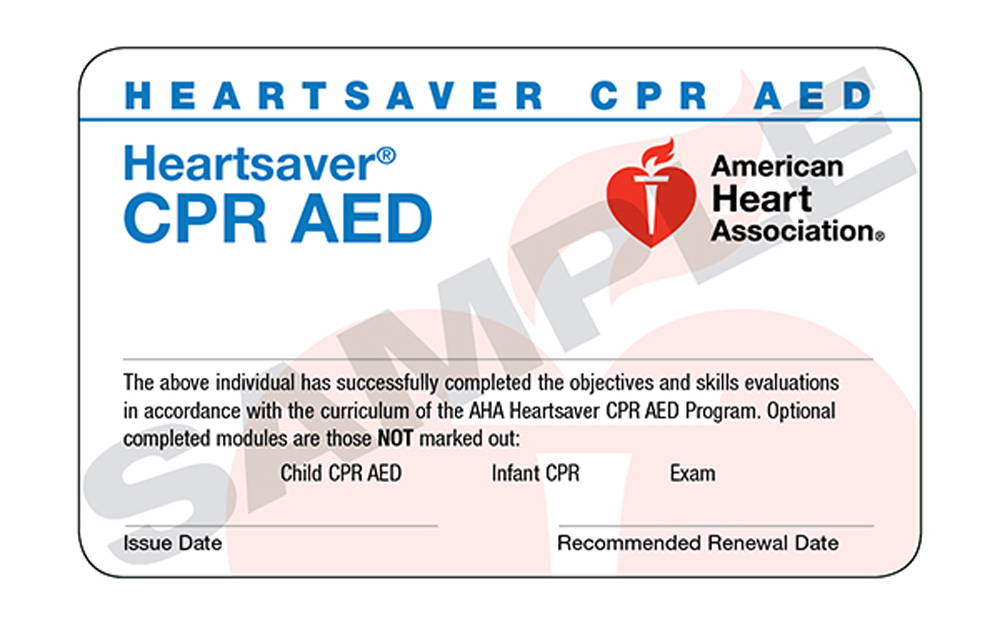 Heartsaver CPR Card
